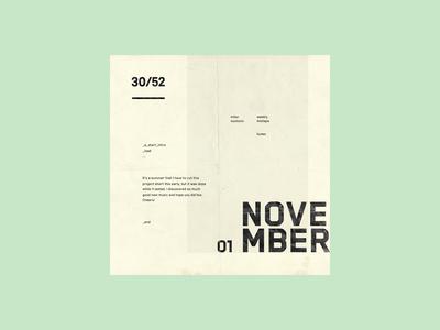 Weekly Mixtape - 30 November weekly simple minimal typography design cover music mixtape clean