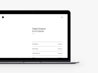 Portfolio - Teaser minimal design laptop mobile desktop website interface user ux ui teaser portfolio