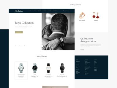 Ole Mathiesen - Home web interface user watch minimal homepage website home