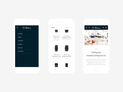 Ole Mathiesen - Mobile home website homepage minimal watch user interface web