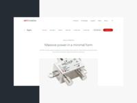 DKT Comega - Product Detail detail website product minimal broadband user interface web