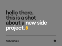 Featured Type typography simple minimal user clean web interface design