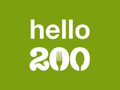 Hello 200 Mark