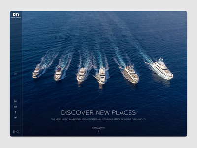 Website Design for Yachts yachts web webdesign main page uiux interface design aftereffects ui animation yacht