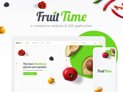FruitTime | E-commerce website & iOS Application fruit fruits clean web colors interface design ui