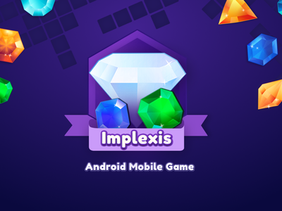 Implexis - Android Mobile Game clean colors gems ux interaction aftereffects interface design ui game