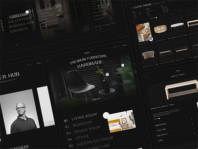 Sulod / Website Concept interior minimalistic black premium furniture branding interaction ux web interface design ui