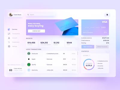 Finance Dashboard Concept ui web app dashboard ui price 3d c4d interface fintech finance dashboard application