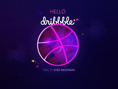 Hello Dribbble helloworld first post debut firstshot design illustration ui vector hellodribbble