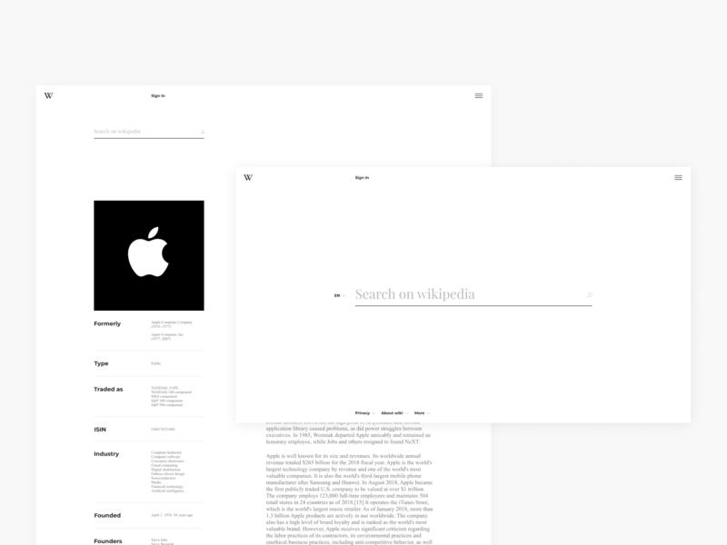 Wikipedia website rethinking redesign minimalism design ui ux