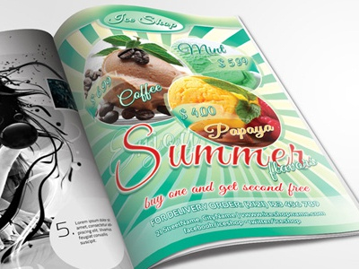 Summer Flavors dream fantasy flavor fresh ice cream italy love mint pleasure romance taste