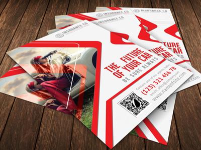 Auto Insurance Company agency auto car company corporate identity creative flexible flyer insurance presentation price promotion
