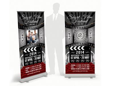 Film Fest Rollup Banner winners academy animation short film festival award red carpet old movie fascinate cinema movie artist