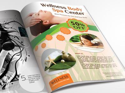 Wellness and Spa Flyer beauty center club cover fancy fashion ifestyle modern original spa spa  wellness wellness