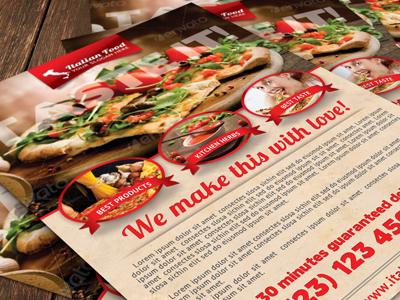 Italian Food Flyer italy pizza spaghetti eat pizzeria love racily salty fresh food