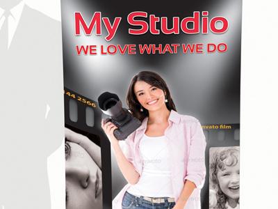 Photostudio rollup banner business style photo photo studio picture corporate editorial flexible modern multipurpose photographer portfolio