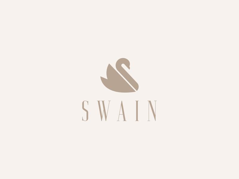 SWAIN symbol bird animal modern clean serif branding minimal logo logo mark minimalist minimal logo swan swain
