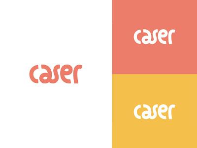 Caser Typography Logo logotype playfull bubblegum branding minimal logo minimalist logo mark minimal logo design phone case case caser custome typography logo