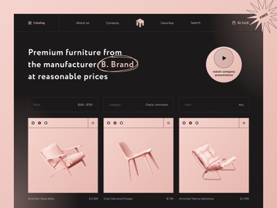 Catalog Free Download interior shop sofa minimal e-commerce ecommerce shopping landing landing page webdesign interaction ecommerce design catalog dark