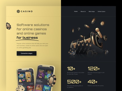 Casino software banner lottery golden marketing spin landing web design clean website casino games luxury landing page sport betting gambling ux ui casino affiliate affiliate marketing