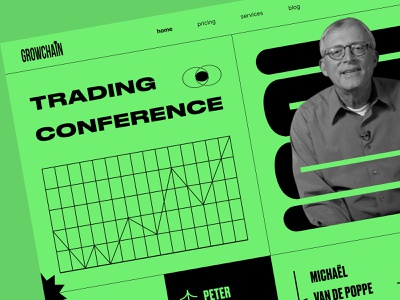 Crypto traders conference conference clean landing page design web design minimalist landing nft binance coin crypto neon cryptocurrency bitcoin ethereum money finance crypto wallet