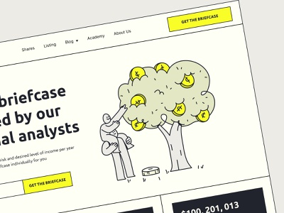 Investment Group - Landing page crypto illustration animation clean uxdesign uidesign business statistics analytics startup trading ux ui web design web landing page investing investment finance website