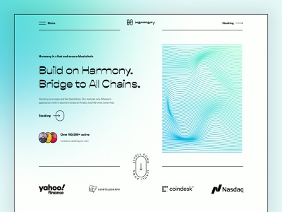 Redesign of Harmony crypto website crypto wallet finance bitcoin cryptocurrency crypto coin binance nft landing minimalist landing page clean gradient ethereum token crypto art blockchain crypto website ux ui