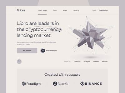 Service cryptocurrency lending market ui clean landing page design website landing web design minimalist nft binance coin crypto crypto exchange cryptocurrency bitcoin ethereum money finance animation crypto wallet