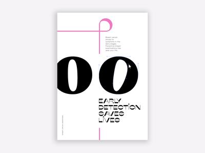 Pinktober Poster vector breast cancer awareness breast cancer design agency design poster design typogaphy graphic design graphicdesign illustrator poster awareness pinktober