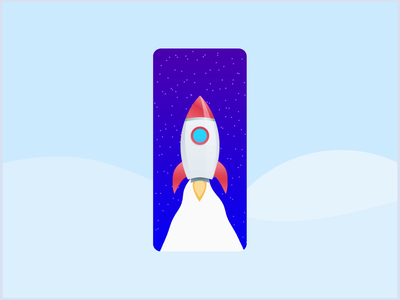 Space News App Concept follow motion mobile app design mobile design mobile app app uiux ui mobile ui mobile blog onix systems onix illustraion animated animation space