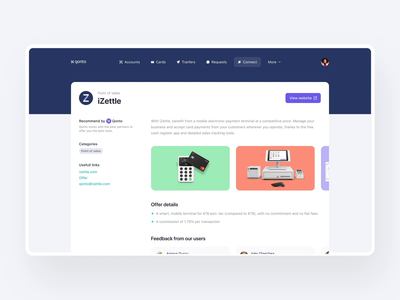 Qonto Connect is live 🎉 fintech application productdesign cards animation marketplace banking bank