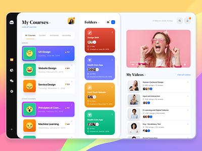 Online Course Platform Concept course e-learning color website interface ux ui design web learning courses online teaching online learning education website online course platform