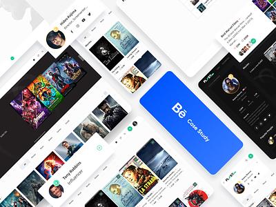 Fliist: Social Network Website Design Case Study movies behance social recommendations favorites platform design interface ux ui books travel