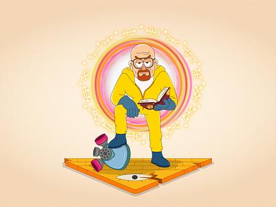 """Heisenberg in the style of """"Gravity Falls"""" gravity falls heisenberg breakingbad artworks art characterdesign character cartoon artwork vector vectorillustration illustration"""