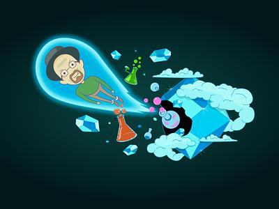 "Heisenberg in the style of ""Adventure Time"" adventure time breaking bad heisenberg art characterdesign character cartoon artwork vectorillustration vector illustration"