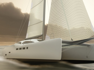 "60"" Yacht nuke vray 3dsmax maya yacht 3d modeling"