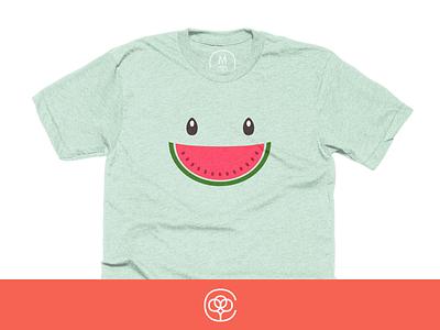 Summer Smile melon watermelon shirt smile summer cotton bureau