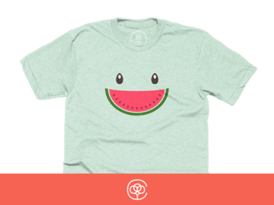 Summer Smile melon watermelon shirt smile summer cotton bureau