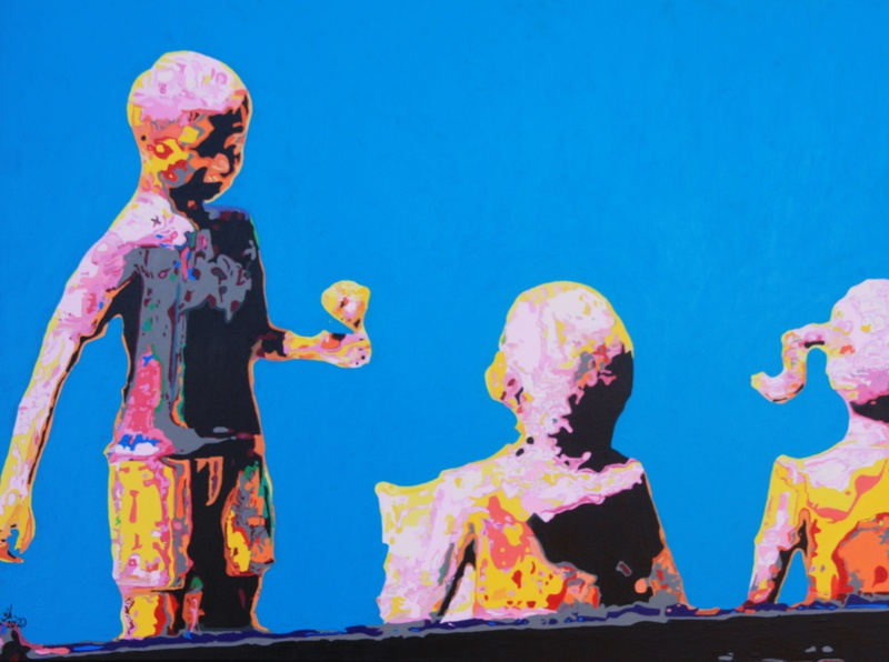 2020 Straat Beelden  Vriendschap abstract charles gilbert portrait