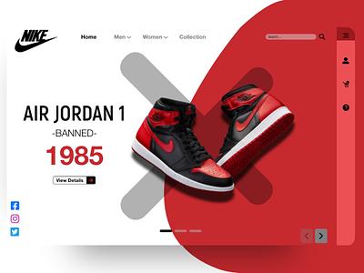 Air Jordan 1 Landing Page landingpage landing page air jordan aj1 airjordan web ux ui design