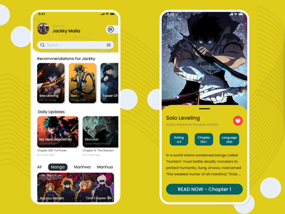 Comic Apps comic book comics comic art comic logo indonesia ux ui design landing page