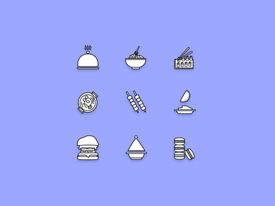 Icon Set for Recipe App Project app design mobile recipe illustration recipe design iconographer ux iconography ui uidesign appdesign branding design vector icon design icon set icon recipe app recipe cuisine