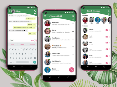 Chatterfield -Messaging App Case Study- mockup design mockup android app design android app branding uiuxdesign uiux chatting chat chat app messaging app message message app mobile ui mobileapp uielements appdesign uidesign ui branding design