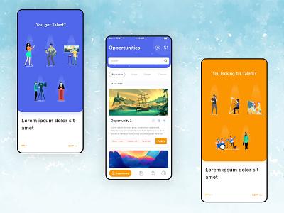 Job Portal branding visual design app design app user interface user experience ux ui uxdesign ui design