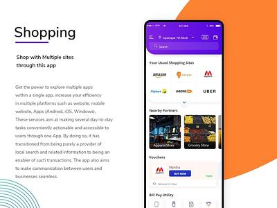 Shopping app web design uxdesign ux branding ui design
