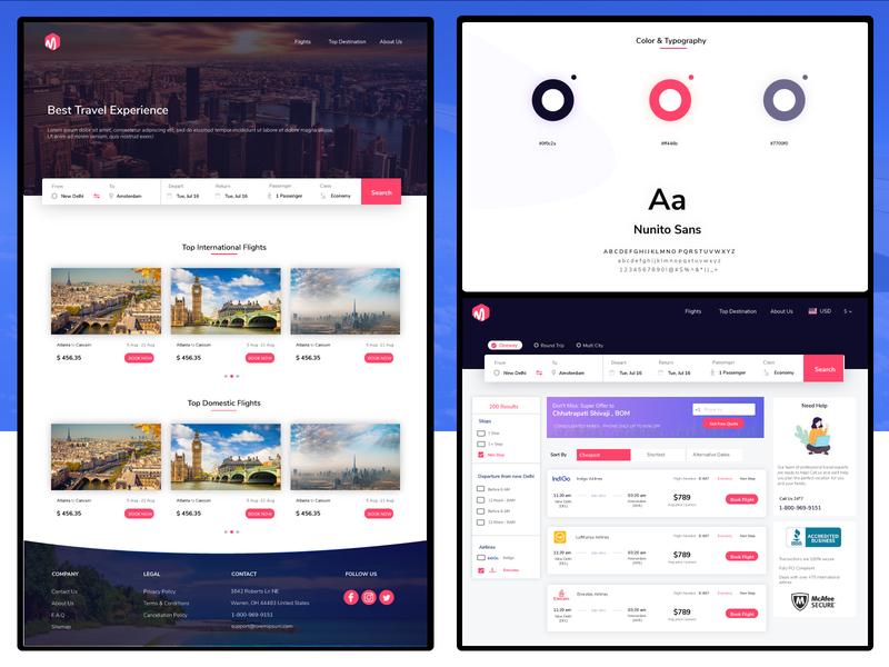 Travel App Web Portal visual design user experience user interface web ui ux web design uxdesign ui design
