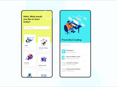 Educational App ui user interface visual design app app design user experience web design ui design uxdesign ux