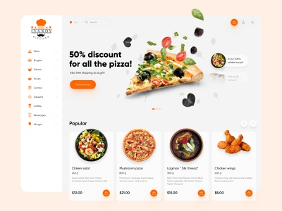 Ivanov kitchen - food delivery service order food delivery app salad restaraunt food and drink food delivery minimal delivery app pizza logo uiux design food delivery service