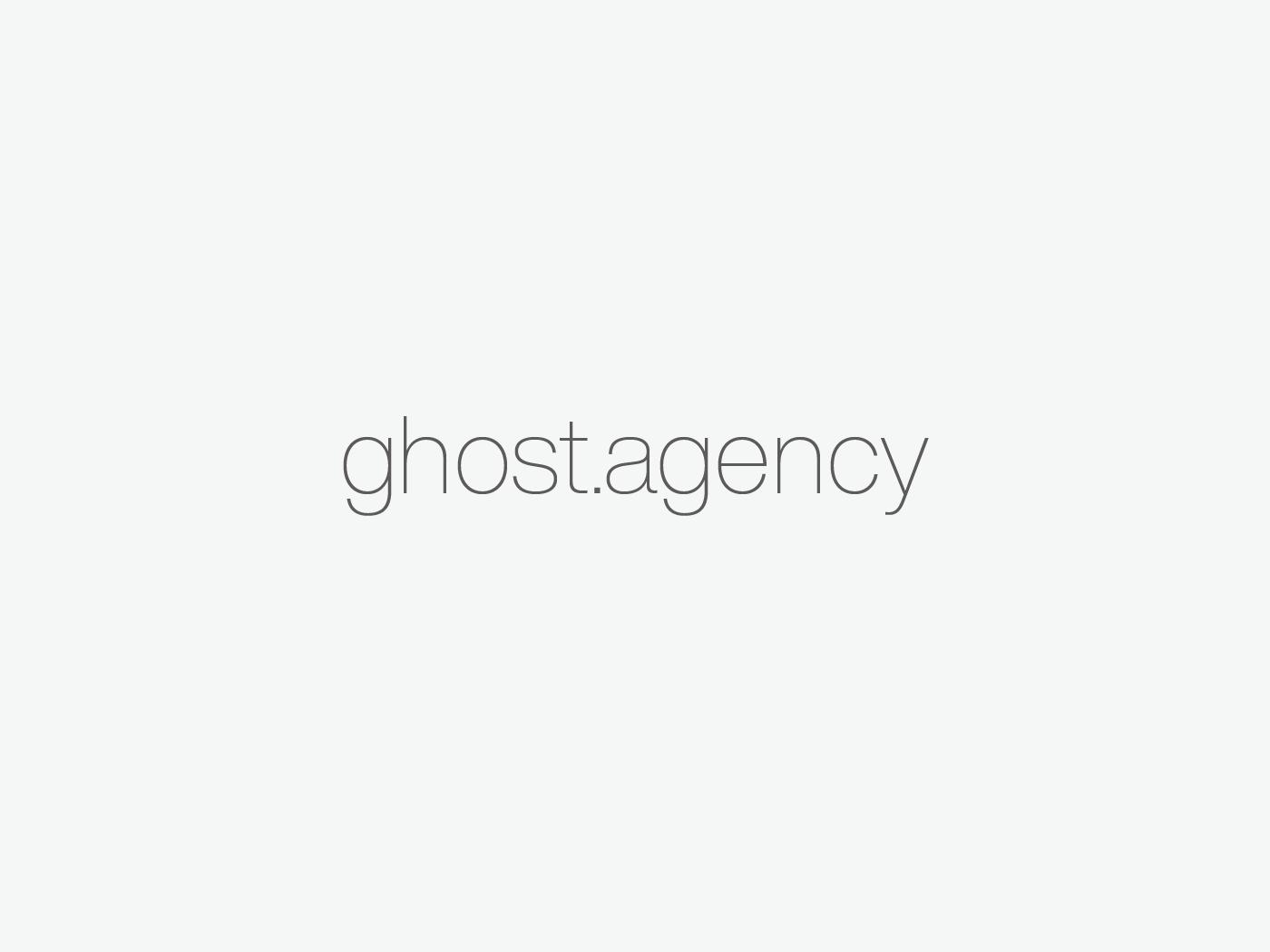 New Ghost Site branding agency branding launch website portfolio design