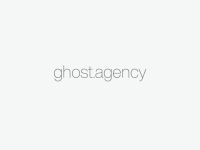 New Ghost Site branding agency branding launch website portfolio design